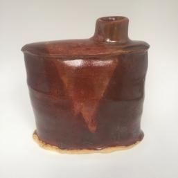 flask, 2018, stoneware, cone 6, oxidation