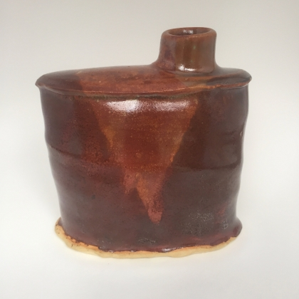 flask, 2018, stoneware, cone 6, oxidation